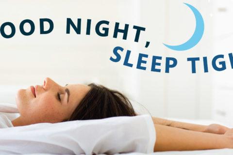 getting a good night's sleep