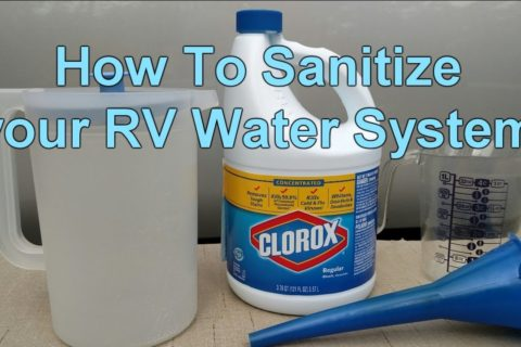 Tips on How to Sanitize RV Water Tank